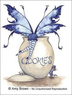 ..fairie trying to get in the cookie jar!!
