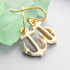Nautical Anchor Earrings #beach #jewelry #etsy
