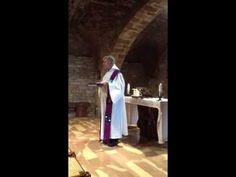 Father SCURTI celebrates mass at Capella Della pace, St Francis Basilica, Assisi