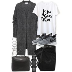 Acne Studios, NIKE, Denham, Linea Pelle, Marc by Marc Jacobs and Forever 21 Uni Outfits, Casual Work Outfits, Comfortable Outfits, Stylish Outfits, Fall Outfits, Fashion Outfits, Stylish Eve, Fashion Tips, Fashion Trends