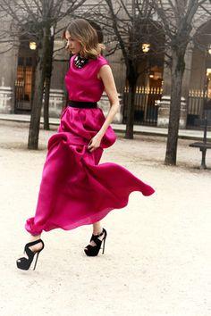 Christian Dior Pre Fall 2012 - love the pop pink!