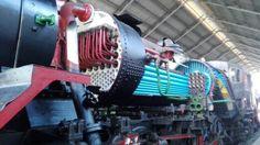 El interior de la maquina de vapor