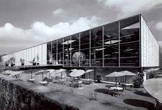 Centro de Prensa, Villa Olímpica, av. Insurgentes Sur, Tlalpan, México DF 1968 Arq. David Muñoz Suárez Press Center, Olympic Village, Tlalpan, Mexico City 1968