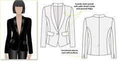 StyleArc Bronnie Tuxedo Jacket Bronnie Tuxedo Jacket