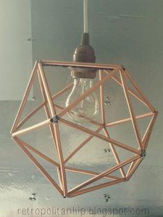 retropolitan: Geometric Copper Pendant- Tutorial