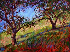 Heart Oaks, California impressionism oil painting by Erin Hanson
