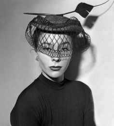 Wearing a hat by French milliner Rose Valois, January 1951 | Flickr - Photo Sharing!