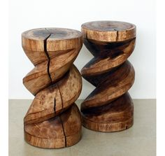 Spiral Zig Zag Stool,Stand Or End Table 12 D x 22 in H #interior #design #interiordesign #home #style #decor #furniture #beautiful #inspiration #fave