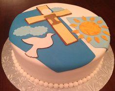 homemade first communion cakes   Boy First Communion Cake. Torta o Pastel para Primera Comunion de ...