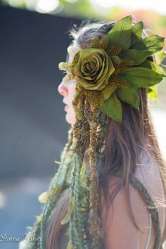 MADE TO ORDER Forest Fairy Headdress by RadhasLove on Etsy