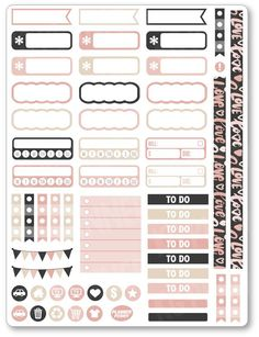 "One 6"" x 8"" sheet of planner stickers cut and ready for use in your planner, calendar, or scrapbook! Please see the FAQ tab for information on sticker material and pen use."