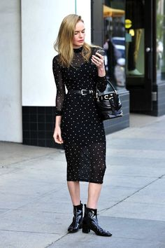 Le Fashion: Get Kate Bosworth's All-Black Sheer Dress Look