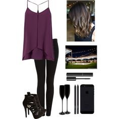 At a party by seems99 on Polyvore featuring moda, J Brand, Charlotte Russe, Chanel and NARS Cosmetics