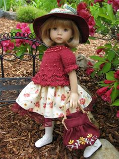 ~GARNET BEADED GEM!~ by Tuula fits Dianna Effner 13  Little Darling to a  t !