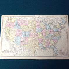 A personal favorite from my Etsy shop https://www.etsy.com/listing/235375068/rare-1867-united-states-antique-map