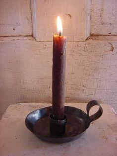 Iron Candlestick Candle Holder Primitive Early Lighting.. I want a dozen.