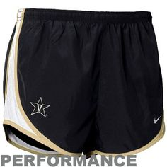 Nike Vanderbilt Commodores Ladies Black Tempo Performance Shorts