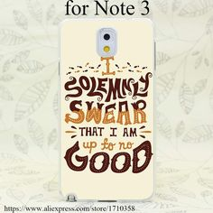 Quotes Hard Transparent Case Cover for Galaxy