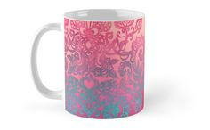 """Ombre Folk Art Doodle"" Mugs by micklyn | Redbubble"