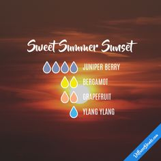 Sweet Summer Sunset - Essential Oil Diffuser Blend