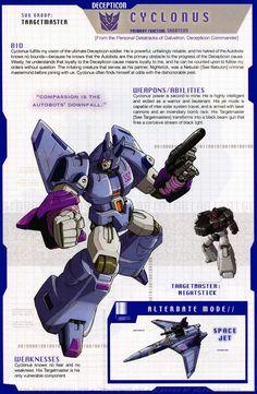 Transformers: Decepticon - Targetmaster - Cyclonus w/ Nightstick