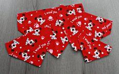 Puppy Love Valentine's Day Dog Bandana/ No Tie Bandana/ I Woof You Valentines Day Dog, Cat Bandana, Dog Pattern, Red Background, Bandanas, Puppy Love, Cute Puppies, Dog Cat, Tie