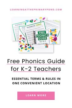 Free Phonics Guide