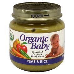 Organic Baby Organic Baby Food, Peas & Rice, 4-Ounce Jars (Pack of 24) Pack of twenty four, 4-ounce jars (total of 96 ounces). USDA certified organic baby food. Product of USA.  #Organic_Baby #Grocery