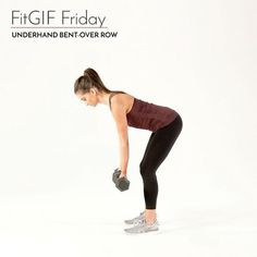 Looking for a good upper-body move? Try out this underhand bent-over row that makes it more about working on your biceps compared to the classic row. And bonus you'll feel your shoulders become more sculpted with each rep : @jen_ator #FitGIFFriday  via WOMEN'S HEALTH MAGAZINE OFFICIAL INSTAGRAM - Celebrity  Fashion  Health  Advertising  Culture  Beauty  Editorial Photography  Magazine Covers  Supermodels  Runway Models