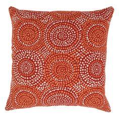 'Mosaic' Red 23 Decorative Throw Pillow | Overstock.com