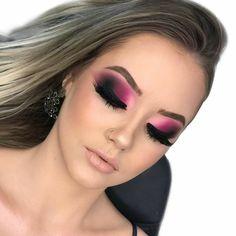 Pink Eye Makeup, Glam Makeup Look, Eye Makeup Art, Glamorous Makeup, Sexy Makeup, Contour Makeup, Eyeshadow Makeup, Beauty Makeup, Arabic Makeup