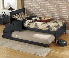 Sydney Upholstered Bed with Trundle. Comes in a full size for ...