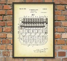 Adding Machine Patent Wall Art Poster