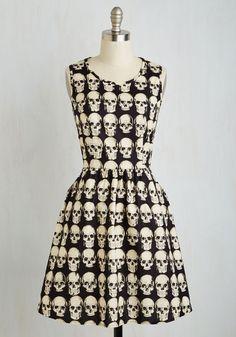 Down to the Flair Bones Dress | Mod Retro Vintage Dresses | ModCloth.com