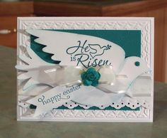 He is Risen Easter Dove by Sylvaqueen - Cards and Paper Crafts at Splitcoaststampers