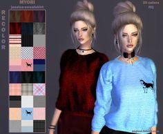 Myobi's Jessica sweetshirt recolors at Angissi • Sims 4 Updates
