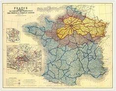 La France occupée par les Prussiens après la guerre de 1870.