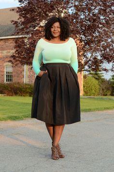 jupe large pour femme ronde