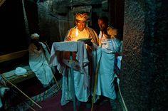 Lalibela, Iglesia de Bet Ghel. Al que madruga Dios le ayuda