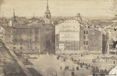 Puerta del Sol, embocadura de la calle Arenal en Febrero de 1859. Fotografía — 1859