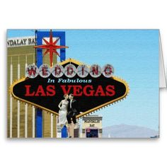 Wedding In Fabulous Las Vegas Bride & Groom sittin Greeting Card