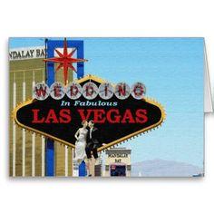 Wedding In Fabulous Las Vegas Bride & Groom sittin Greeting Card