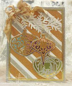 ODBDSLC257  Our Daily Bread Designs Custom Dies:Tree Trimming Trio, Delightful Decorations, Fancy Foliage