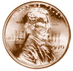 A die clash occurs when the dies are pressed together without a planchet. Impressions result on the dies of the opposite features. The Lincoln cent in the photo contains the pillars of the intended reverse.