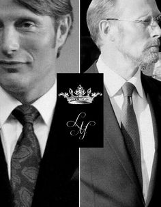 Mads & Lars Mikkelsen... One character will pee on your stuff, and the other will eat you for being rude about it.