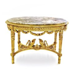 A LOUIS XVI FIGURAL GILTWOOD AND MARBLE-TOP TABLE Art Deco Furniture, Modern Furniture, Furniture Design, Center Table, Chair Design, Design Design, Louis Xvi, Shabby Chic Decor, Modern Chairs