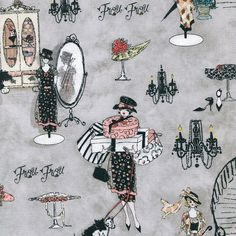New  Frou Frou Parisian Boutique  SPX Fabric   by BywaterFabric, $5.50