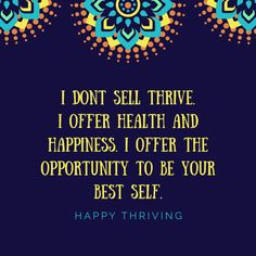 Thrive is the number one health and wellness movement in the country!