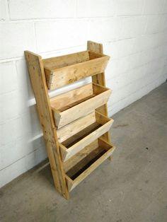 jardiniere verticale en bois (palette)
