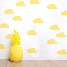 Vinilo adhesivo nubes amarillas minimoi